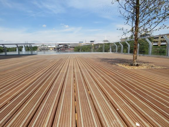 Supplier Name: Gripdeck | GripDeck® HW- Hardwood Anti Slip Decking at Travelodge Thurrock