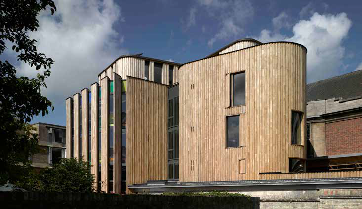 <p><span>The Cruickshank & Seward brick building has been replaced with timber vertical boards.</span></p> <p><span>© Nick Kane</span></p>