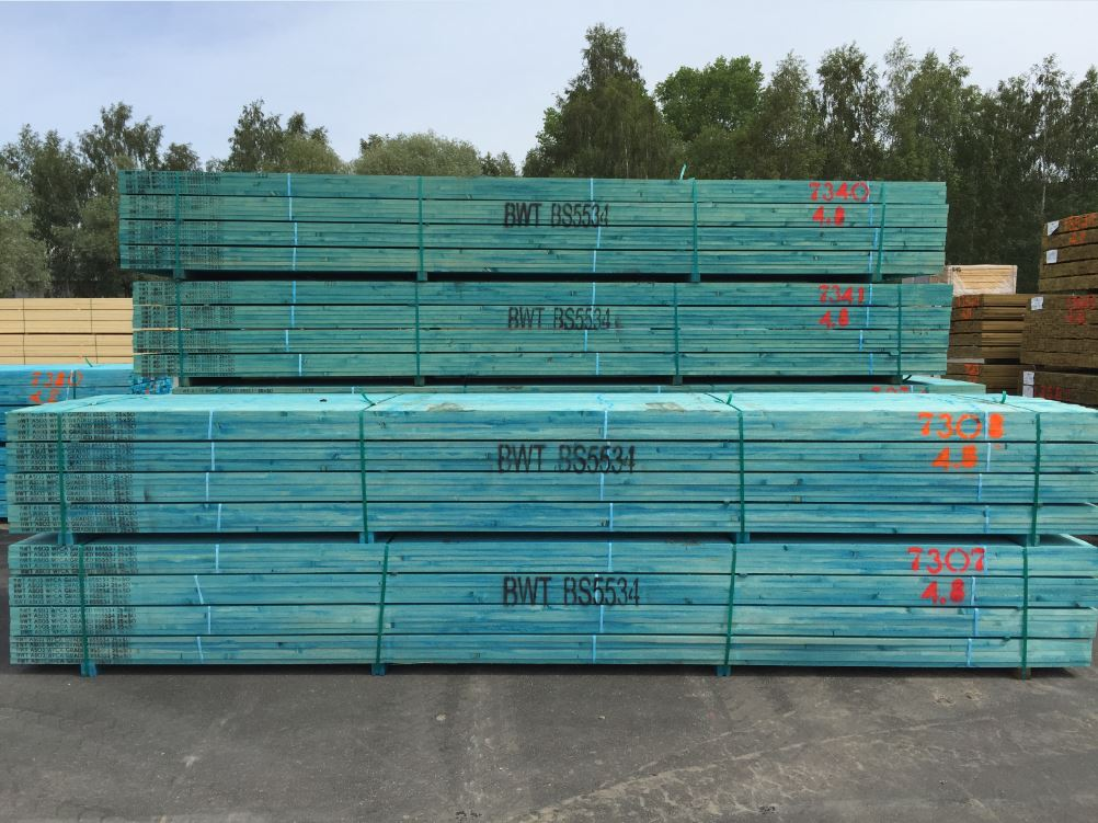 BS 5534 Blue Battens