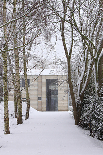 <p>A track lined with birch trees leads to the house. © Greg Storrar</p>
