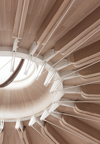 <p> </p> <p>A central oculus is supported by a cable structure inspired by the tensioning of stringed instruments. <span>© Ian Ritchie Architects</span></p>