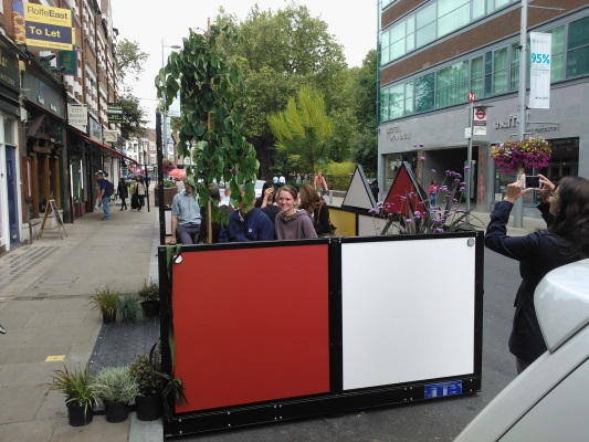 "WISA-Multiwall ""Parklet"" by H B Designs Ltd"