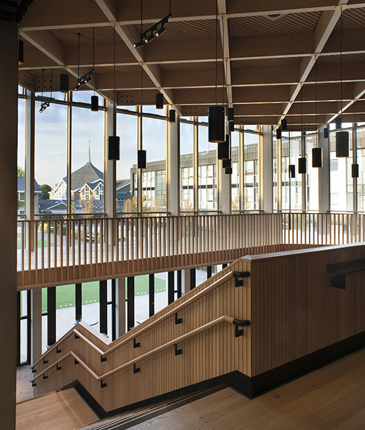<p>The staircase, its handrails and balustrades are all of European oak<br /><span>© </span><span>Philip-Vile</span></p>