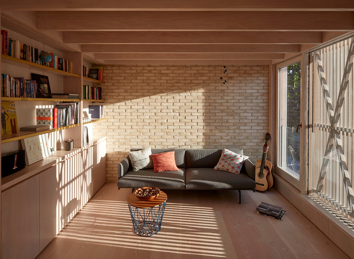 <p>A generous open plan living space occupies the first floor. Photography: © Edmund Sumner</p>