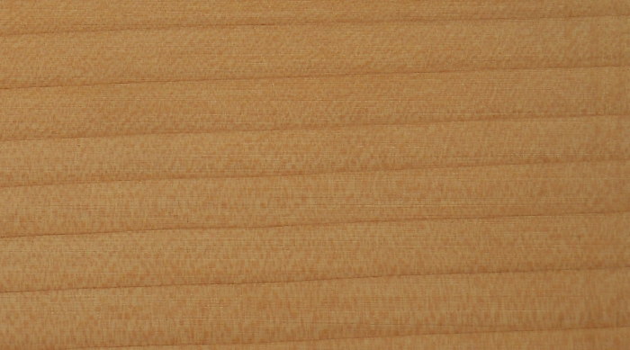 Cedar: lacquered finish