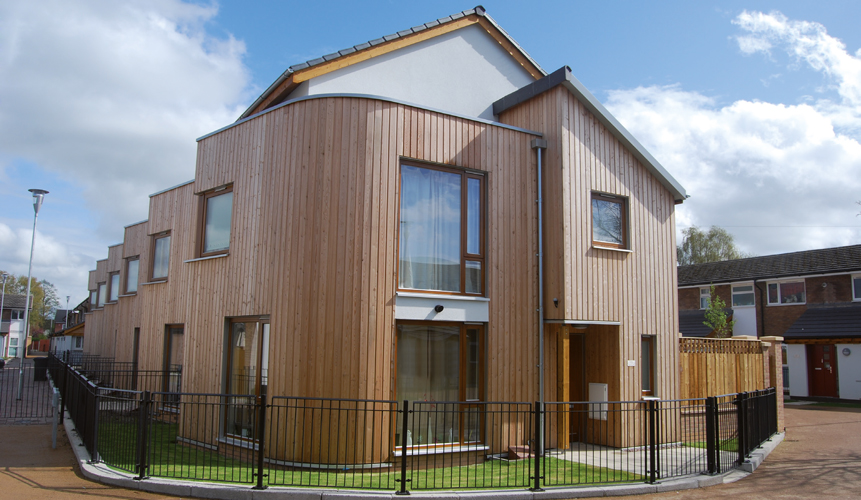 <p><span>A newly built three bedroomed house built to HCA standards and to Code for Sustainable Homes Level 3.</span></p> <p><span>© Ian McHugh</span></p>