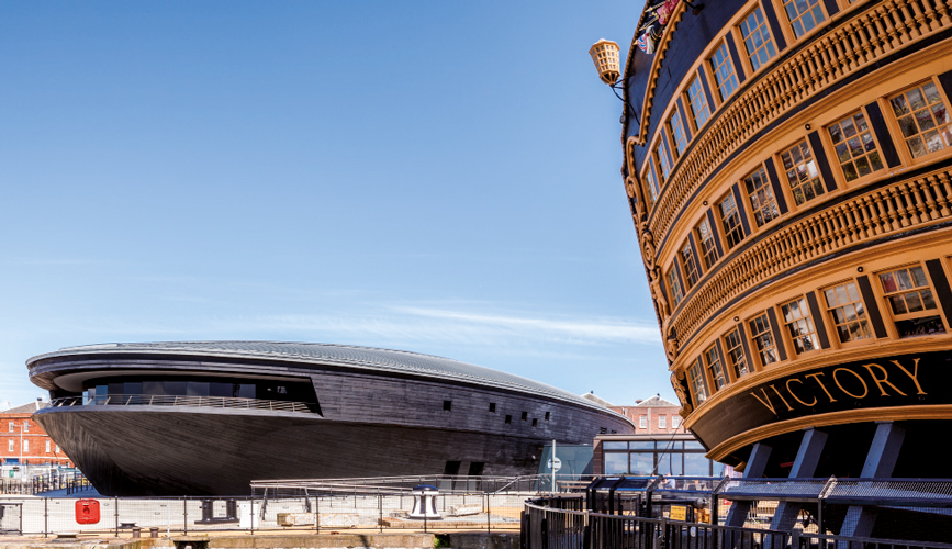 <p><span>The Mary Rose Museum situated next to Nelsons HMS Victory.</span></p> <p><span>© Gareth Gardner</span></p>