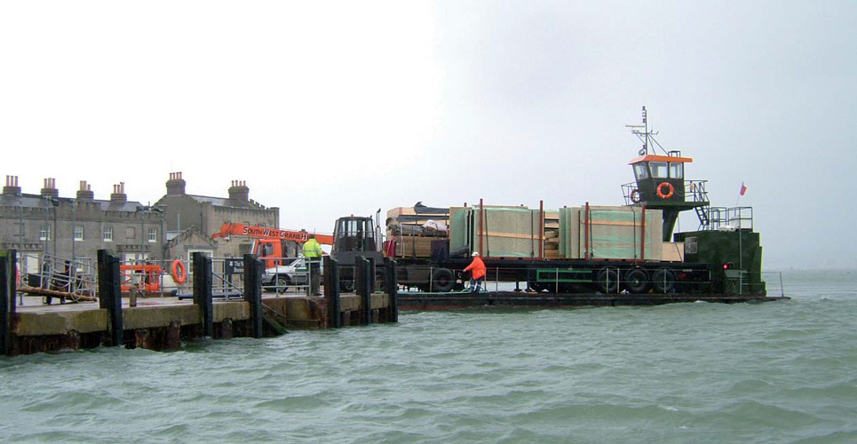 <p><span>Pre-fabricated wall and floor cassettes arriving at Brownsea Quay.</span></p> <p><span>© Wilkinson King Architects</span></p>