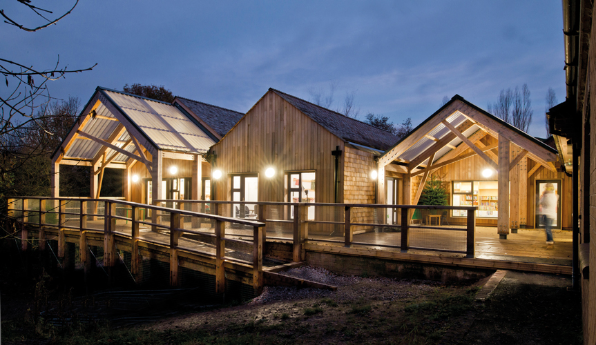 <p>New timber extension reflects school's 'Forest School' philosophy.</p> <p>© Beccy Lane</p>