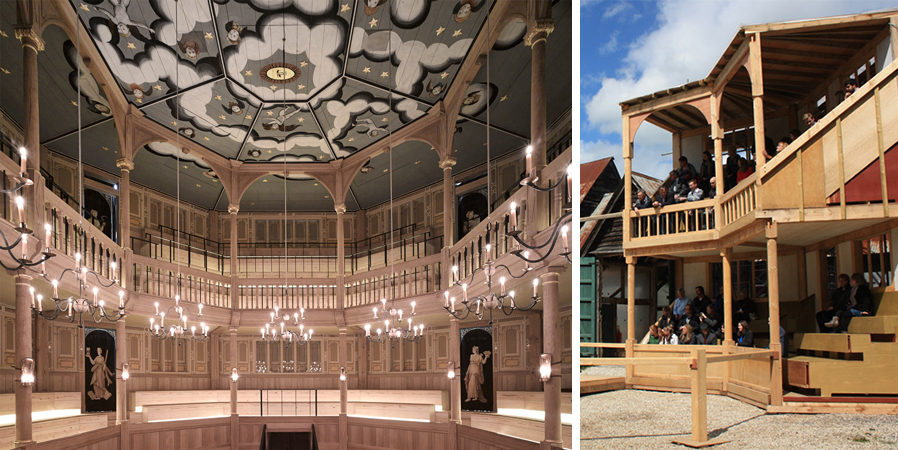<p><span>The new theatre is a faithful reconstruction of a Jacobean theatre, built almost entirely from wood.</span></p> <p><span>© Nick Guttridge / Peter McCurdy</span></p>