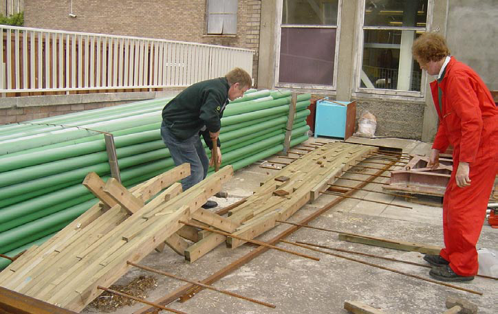 <p><span>Test of a 6 metre stress-laminated bridge structure.</span></p> <p><span>© <span>Geoff Freedman</span></span></p>