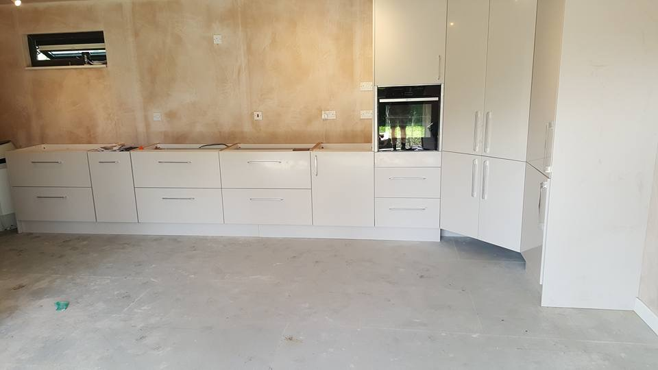 Our client's fantastic Kitchen being installed at one of our Lodges in Great Yarmouth