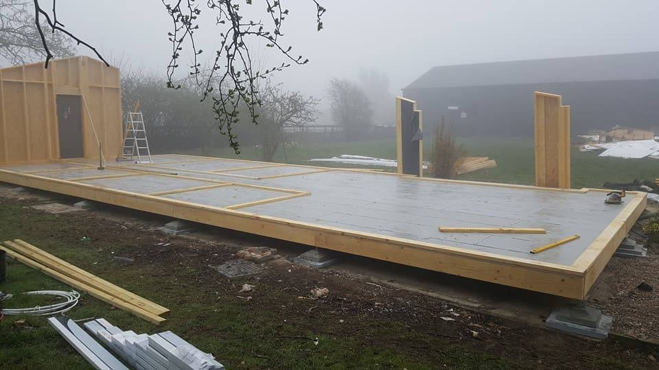 Mid-Construction of one of our Lodges in Essex