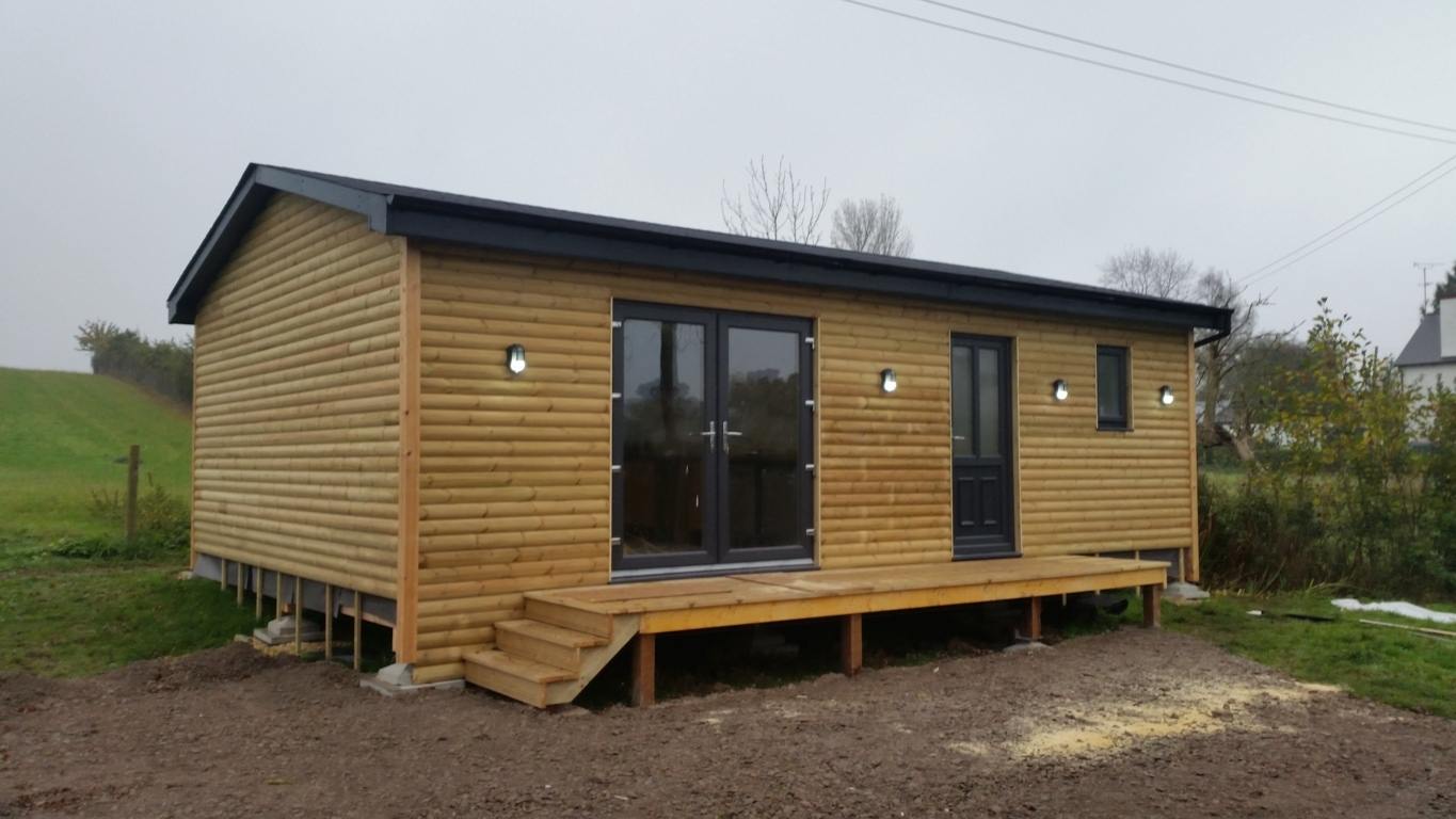 A lodge due for completion in Gloucestershire.