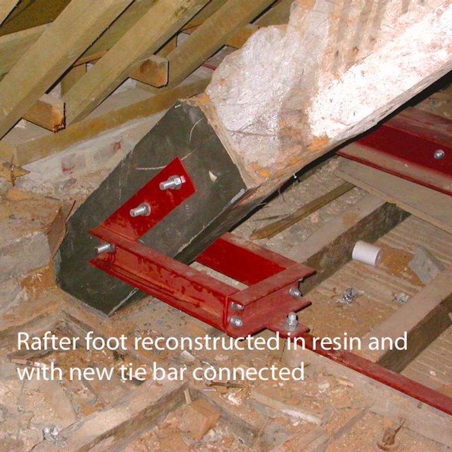 Manor Farm | We reconstructed the foot of the truss ready for the main contractor to install a new tie bar
