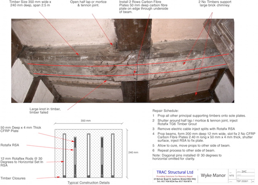 Carbon fibre repair | Our installation drawing - you can download the original from our web site